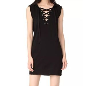 Pam & Gela Lace Up Cotton Dress Sz Small Sm